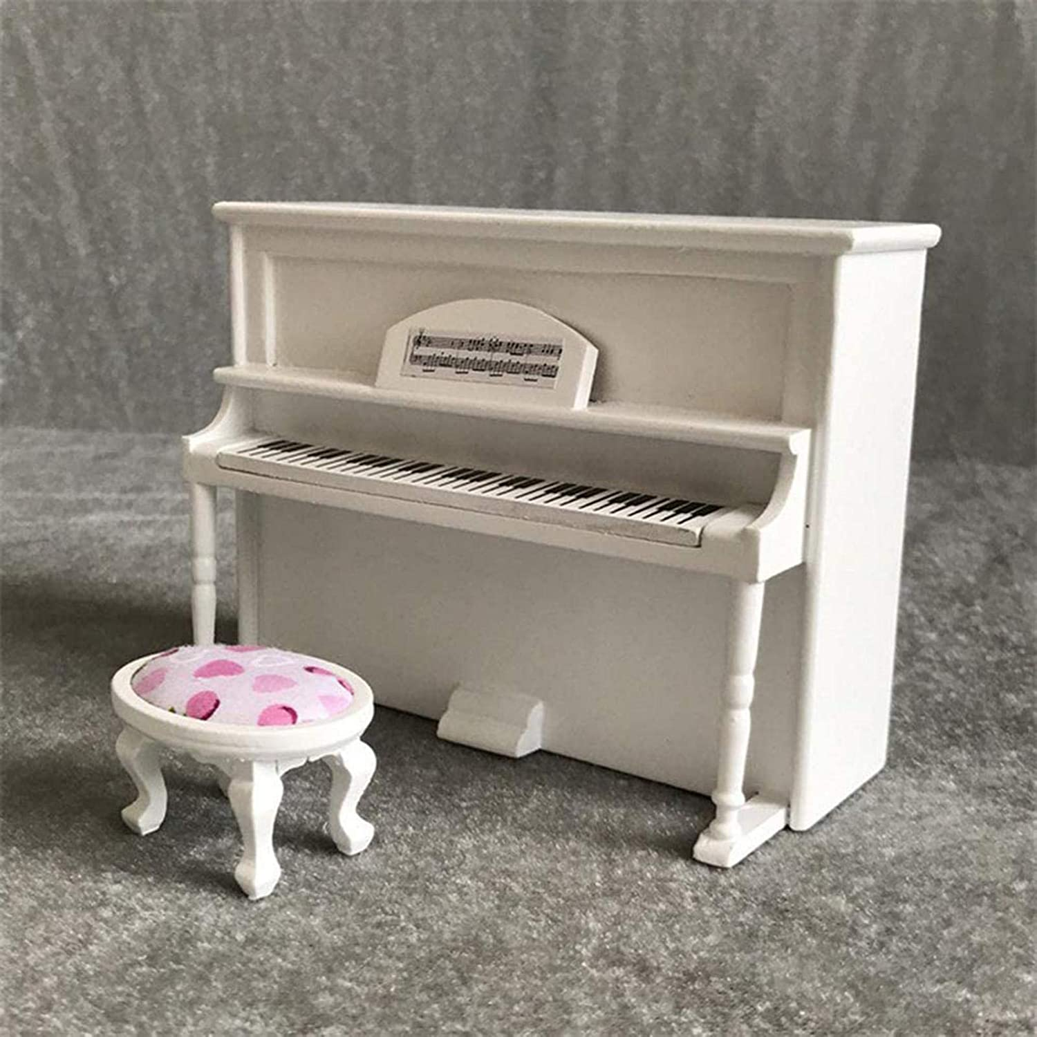 Niumen Dollhouse Piano Miniatures Musical Instrument Wooden Piano Attractive Mini Ornament Gift Decoration For Dollhouse Artist Offerings