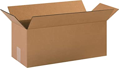 """Aviditi 2088 Long Corrugated Cardboard Box 20"""" L x 8"""" W x 8"""" H, Kraft, for Shipping, Packing and Moving (Pack of 25)"""