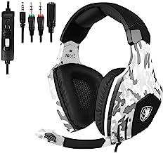 Sonido Envolvente Auriculares Sades OMG Wired over - Auriculares onver-ear con aislamiento de ruido Micrófono Gaming De Diademas Cerrados USB LED Para PC/ MAC/ Laptop (Negro)