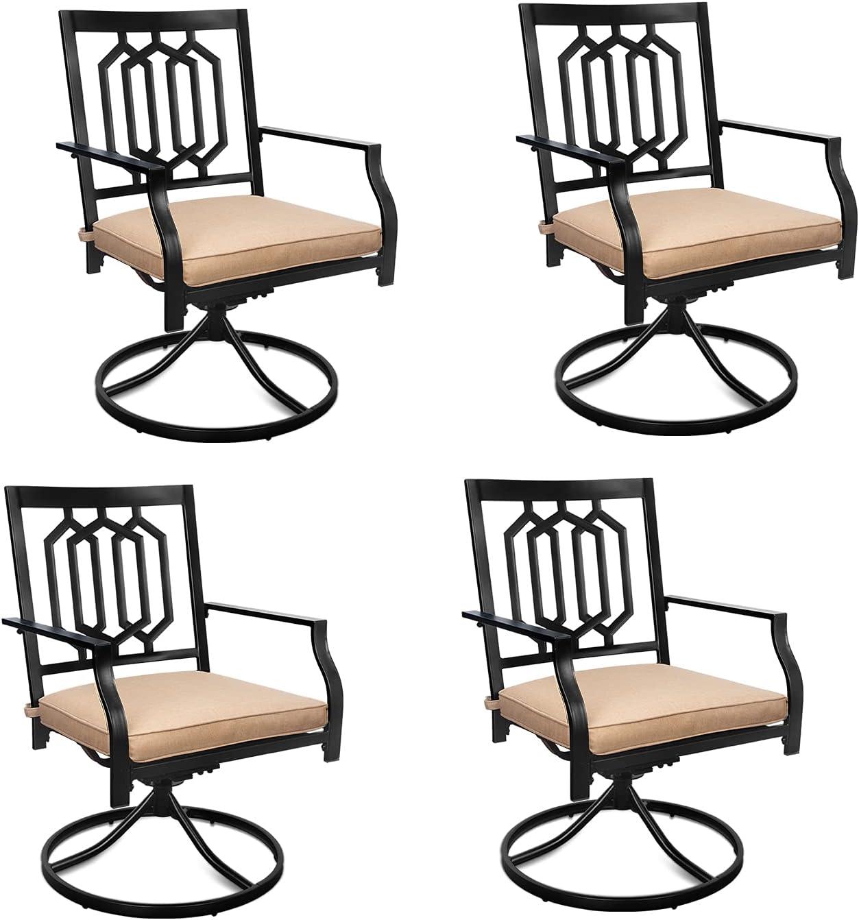 Home Swivel Chairs 4 Pcs Metal Living Selling half Room MEOOEM Rocker