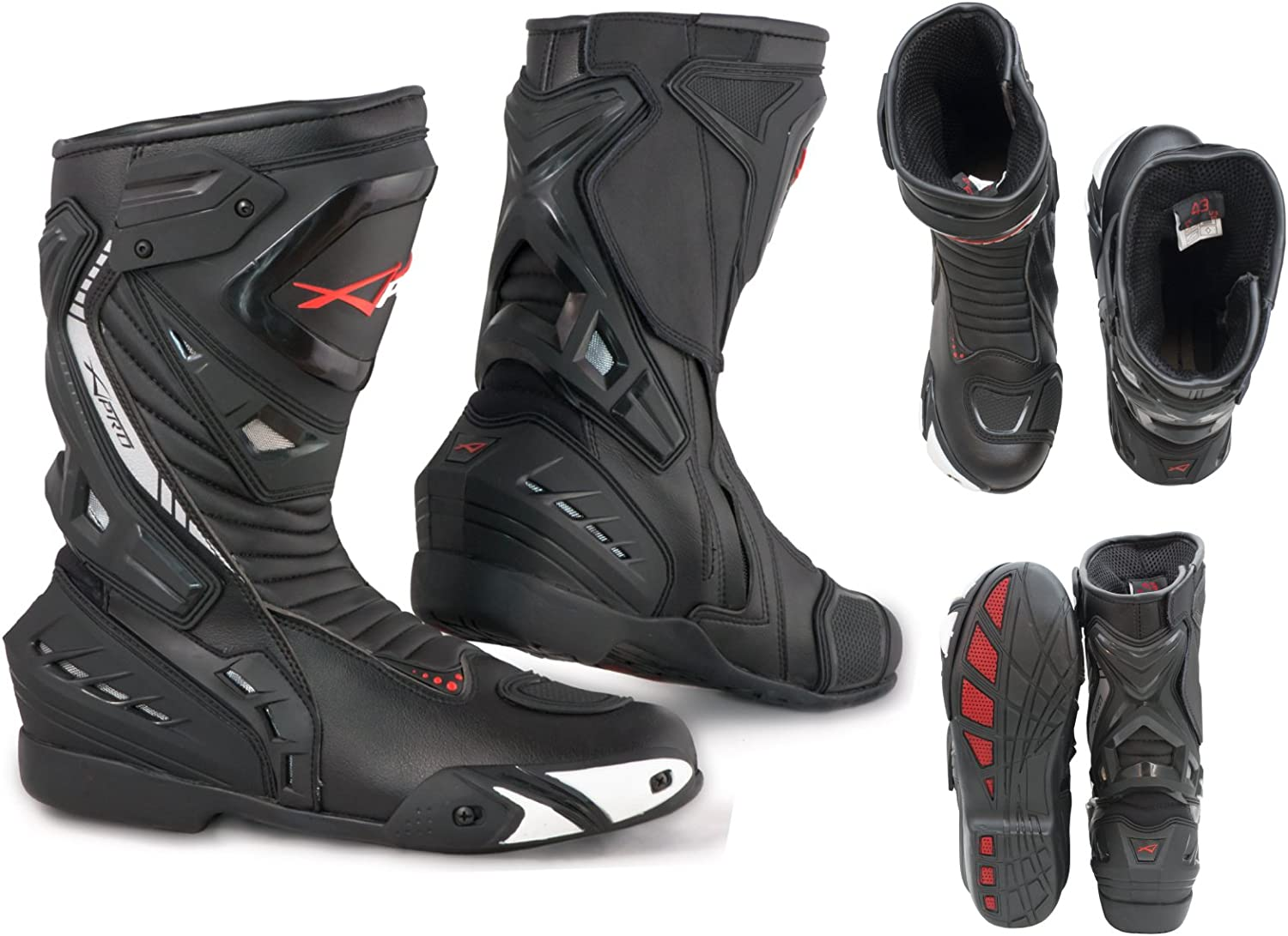 Motorcycle Boots Motorbike Topics on TV In a popularity Sports Racing Track Road Mi Technical
