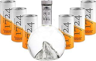 Vodka Tonic Set - Studer Swiss Classic Vodka 0,7l 40% Vol  6x 1724 Tonic Water Dosen 200ml inkl. Pfand EINWEG -Enthält Sulfite