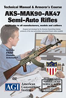 American Gunsmithing Institute Armorer's Course Video on DVD for AKS - MAK 90 - AK47 Semi-Auto Rifles - Technical Instructions for Disassembly, Cleaning, Reassembly and More