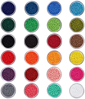 BENECREAT 24 Boxes Of About 24000 Pcs 11 0 Multicolor Beading Glass Seed Beads 24 Colors Round Pony Bead Mini Spacer Beads...