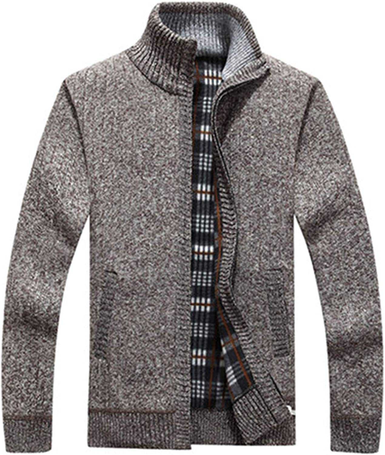 Thick Warm Fashion Sweater Cardigan for Men Slim Fit Jumpers Knitred Winters Clothes
