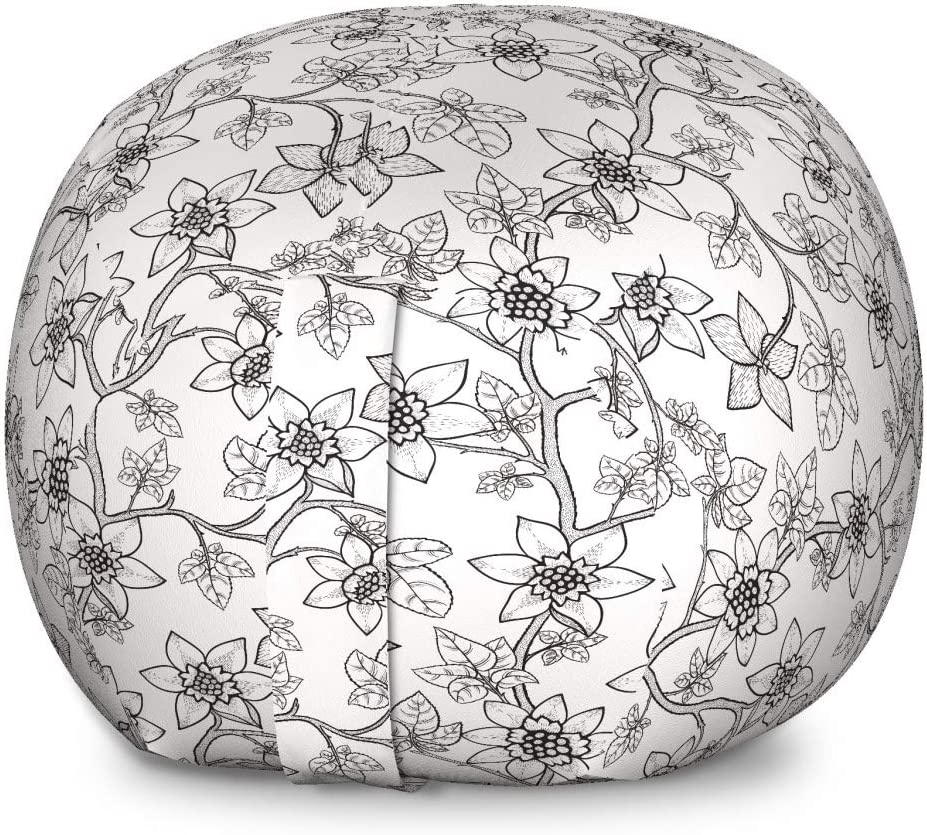Industry No. 1 Ambesonne Floral Vintage 2021 autumn and winter new Storage Toy Chair Bag Graphic Drawing