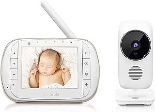 """Motorola Smart Video Baby Monitor con Wi-Fi y 3.5"""" Color LCD Parent Unit, visión nocturna, audio bidireccional, visualización de temperatura de la habitación y 5 Lullabies, MBP668CONNECT"""