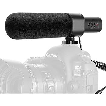 Neewer CM15 Microfono a Condensatore per Fotocamera Intervista Compatibile con Nikon Canon Sony Panasonic Videocamere 3,5mm Connettore Elettrico Super-cardioide Unidirezionale (Non per Smartphone)
