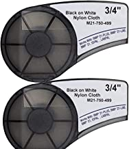 and LABPAL Label Maker Printers Work with Brady BMP21-PLUS 2 Pack IDPAL MarkDomain Compatible M21-750-595-WT 0.75 x 21 High Adhesion Vinyl Film Label Tape Cartridge