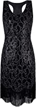 VIJIV Women's 1920s Gastby Sequined Embellished Fringed Paisley Flapper Dress