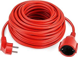 SIMBR Alargador Electrico 20m Cable Alargador de Corriente IP20 H05VV Cables de Extensión para Exteriores Prolongador de C...