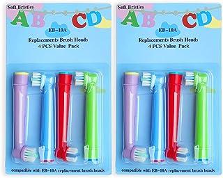 EB-10A Professionalale Di Ricambio Per Spazzolino Da Denti Elettrico Per Bambini,Progettato Per Oral B Elettrico Testina D...