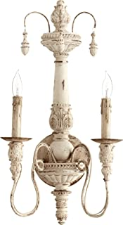 Quorum 5506-2-70 Salento Wall Sconce, 2-Light, 120 Total Watts, Persian White