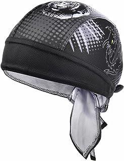 fb1fbed777cb79 VBIGER Sweat Wicking Beanie Skull Cap Quick Dry Adjustable Cycling Hat Wrap  Rag Men Women