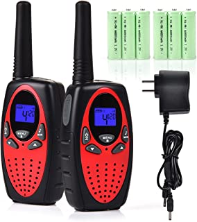Funkprofi Walkie Talkies for Kids 22 Channels Long Range Walkie Talkies with Rechargeable Battery and Charger, Best Gift for Boys and Girls, 1 Pair.