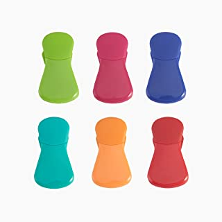Farberware Colourworks Magnetic Wide Bag Clips, Assorted, Set of 6