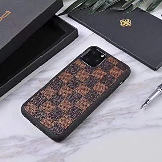 ~KaiyoKumi~ Case Cover for iPhone7/8 Plus X/XS XR MAX Fashion Luxury PU Leather Plaid Style Cover Case Compatible for Apple iPhone (Brown Plaid, iPhone7/8 Plus)