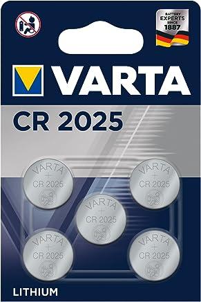 Varta Batterien Electronics CR2025 Lithium Knopfzelle 3V Batterie 5er Pack Knopfzellen in Original 5er Blisterverpackung