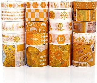 PuTwo Washi Tape, Masking Tape 20 Rouleaux, 10mm/15mm/30mm Ruban Adhésif Décoratif, Washi Tape Japonais en Washi, Ruban Ad...
