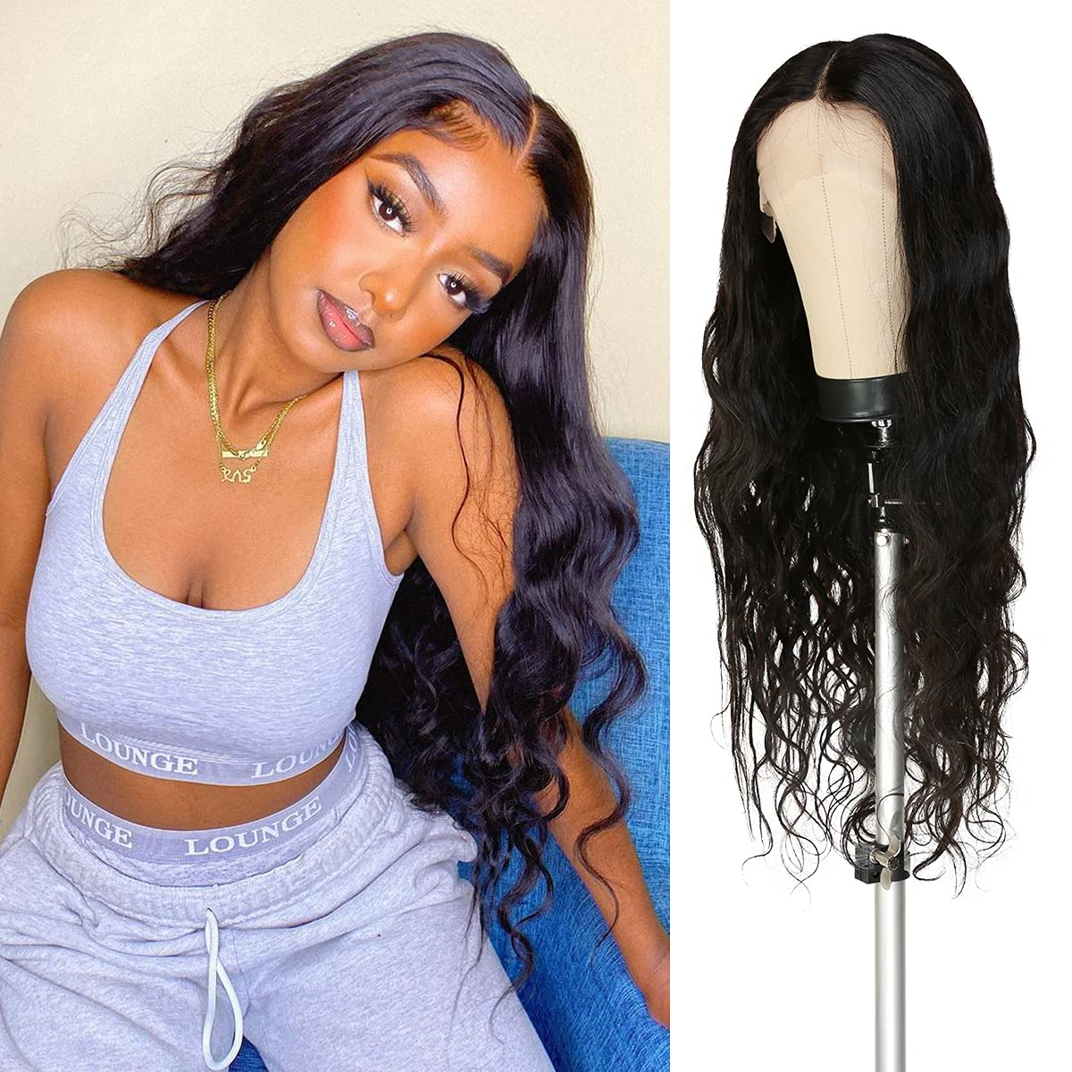 Celebrity 32 Memphis Mall Free shipping on posting reviews Inch HD Lace Front Wave Hair Virgin Human Wig Body
