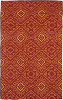 "Kaleen Rugs Nomad Collection NOM05-25 Red Flat-Weave 3'6"" x 5'6"" Rug"