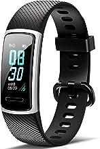 Fitfort Fitnessarmband met hartslagmeter, IP68, waterdicht, fitnesstracker, stappenteller, slaapmonitor, zittende herinner...
