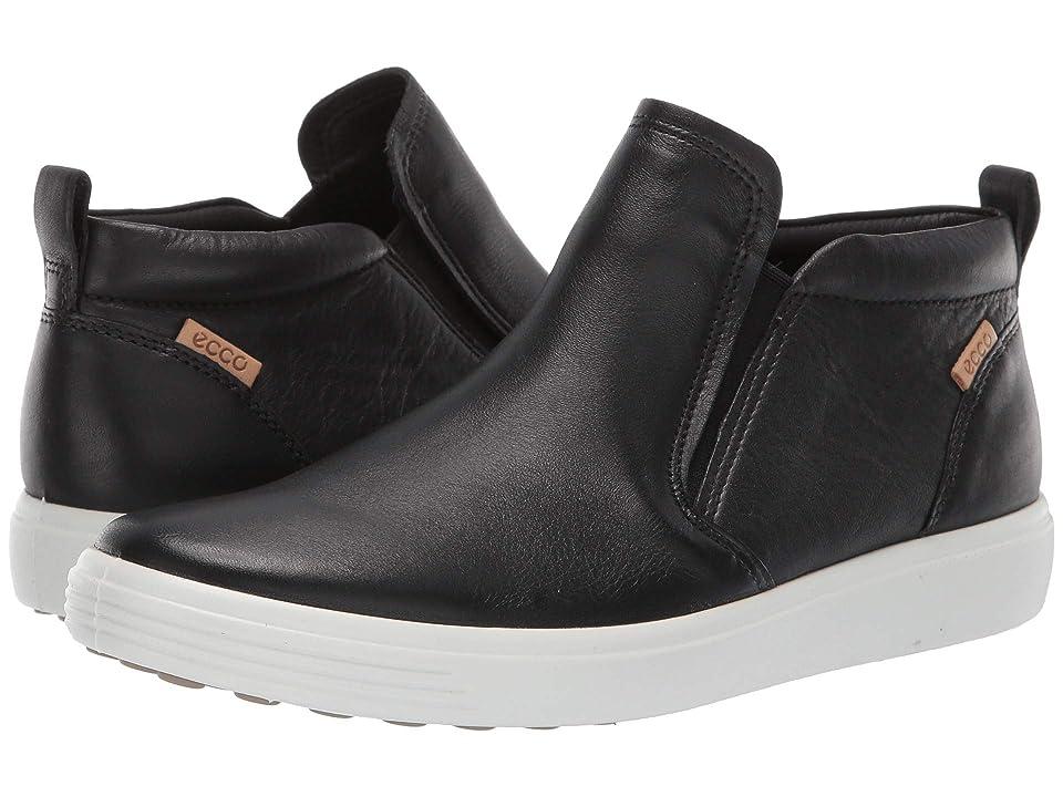 ECCO Soft 7 Slip-On Boot (Black Cow Leather) Women