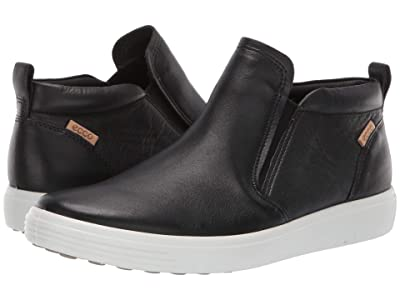 ECCO Soft 7 Slip-On Boot (Black Cow Leather) Women