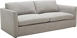 Amazon Brand – Stone & Beam Faraday Down-Filled Casual Sofa, 102W, Light Grey