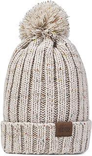 1ed132ebaf7 REDESS Women Winter Pom Pom Beanie Hat with Warm Fleece Lined