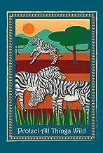 Toland Home Garden Protect Zebras 12.5 x 18 Inch Decorative Exotic Animal Wild Conservation Garden Flag