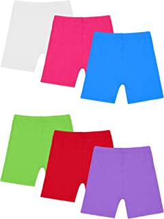 Resinta 6 Pack Black Dance Shorts Girls Bike Short Breathable and Safety 6 Color