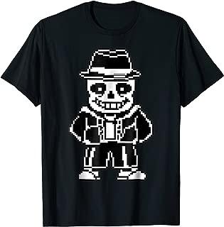 Sans Skeleton Cool Pixel Art Shirt Playera Camiseta