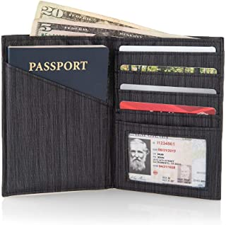 RFID Protected Slim Leather Travel Passport Wallet