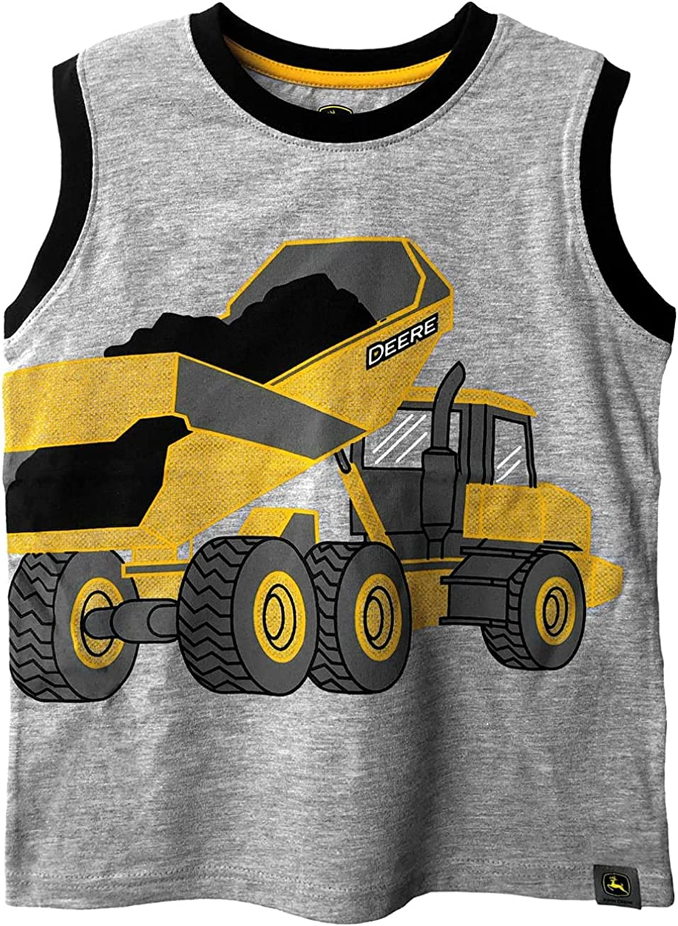 John Deere Gray Sleeveless Dump Truck T-Shirt Sizes 4 5 6 7