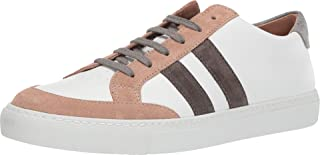 Men's Leather Sneaker with Suede Trim