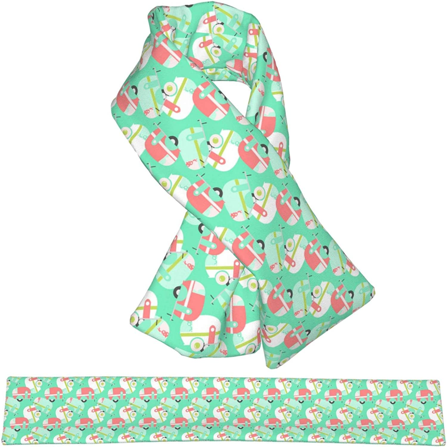 Mermaid And Unicorn Art Popular standard Cashmere Feel P Soft Double Ranking TOP11 Winter Scarf