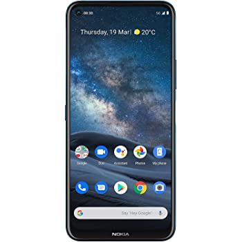 Nokia 8.3 5G Android Unlocked Smartphone with 8/128 GB Memory, Quad Camera, Dual SIM, and 6.81-Inch Screen, Polar Night (AT&T/T-Mobile/Cricket/Tracfone/Simple Mobile/Mint/Ultra Mobile)