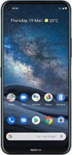 Nokia 8.3 5G Android Unlocked Smartphone with 8/128 GB Memory, Quad Camera, Dual SIM, and 6.81-Inch Screen, Polar Night (A...