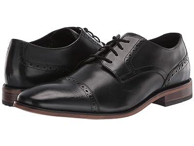 Bostonian Lamont Cap (Black Leather) Men