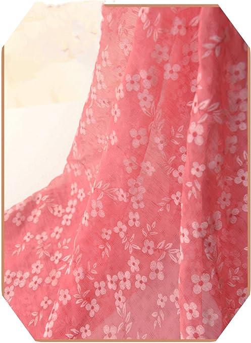 Vacation Dress Fabric Printed Polyester Fabric 1 Yard Floral Chiffon Fabric Beach Dress Fabric Beautiful Spring Fabric Holiday Decor