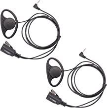 Lot 2 x Coodio D-Ring Earpiece Police Security Headset inline PTT Mic Microphone For 1 Pin Motorola Talkabout 2 Way Radio Walkie Talkie