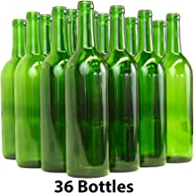 Home Brew Ohio 6 gallon Bottle Set: green Claret/Bordeaux (36 Bottles)