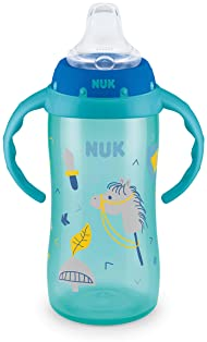 NUK Large Learner Sippy Cup, Green Tractor Designs, 10 Ounce (Packaging may vary)