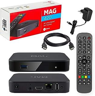 Mag 420 Original Infomir & HB-DIGITAL 4K IPTV Set Top Box Multimedia Player Internet TV IP Receiver # 4K UHD 60FPS 2160p@6...