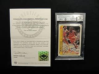 Michael Jordan 1986 Fleer Signed Rookie Sticker Autograph Beckett - Upper Deck Certified - Basketball Slabbed Rookie Cards