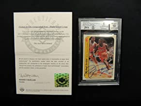 Michael Jordan 1986 Fleer Signed Rookie Sticker Autograph Beckett - Upper Deck Certified - Basketball Slabbed Rookie Cards
