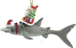 Cape Shore Santa Riding Hammerhead Shark Coastal Deep Sea Christmas Holiday Ornament (2019)