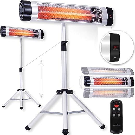 KESSER® Infrarotstrahler Heizstrahler Wärmestrahler Terrassenstrahler Temperatur 3-Stufig höhenverstellbarem Teleskopstativ Wickeltischstrahler…