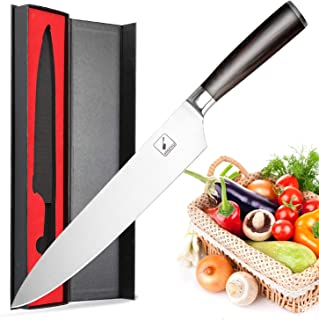 imarku Chef Santoku Knife - Pro Kitchen Knife 10 Inch Chefs knife High Carbon German Stainless Steel Sharp paring knife with Ergonomic Handle